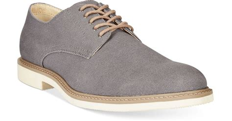 alfani oxford shoes alfani richie canvas oxford shoes in gray for grey