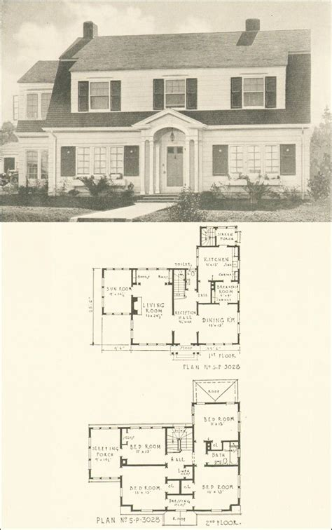 dutch colonial home plans colonial dutch vintage house plans pinterest