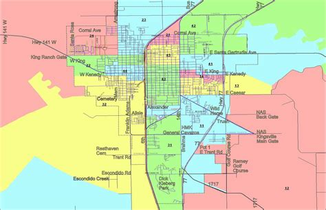 Kleberg County Court Records County Map W Election Precincts City Streets
