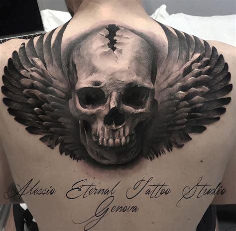 angel skull tattoo designs skull best design ideas