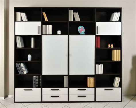librerie colombini libreria componibile colombini in rovere moro e vetro