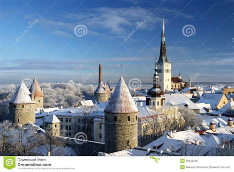 Free House Building Plans tallinn city estonia snow on trees in winter stock photo