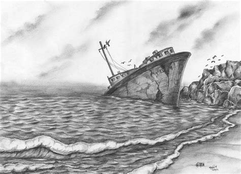 sinking boat vine sinking ship by justin george drawings pinterest