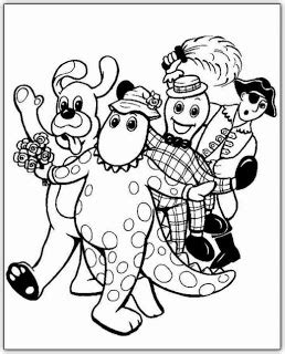 wiggles halloween coloring pages fun coloring pages the wiggles coloring pages