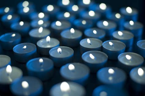 Blue Candles Photo Of Background Of Burning Candles Free Images