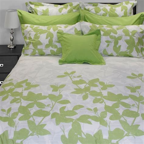 White Comforter With Green Leaves by Green Leaves Sheet Set Beddingsuperstore