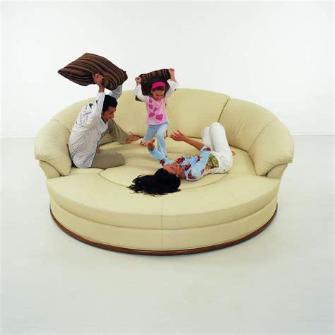 divano rotondo divano rotondo in pelle modulare idfdesign