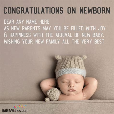Wedding Anniversary With Newborn Quotes by New Born Baby Greetings With Name