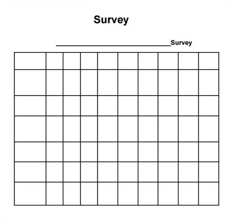 blank survey template sle blank survey 6 documents in pdf word
