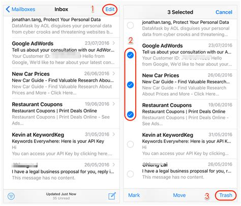 yahoo email going to trash iphone how to delete all emails on iphone ipad at once imobie