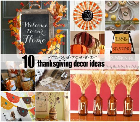 Handmade Thanksgiving Decorations - 10 handmade thanksgiving decor ideas mine for the