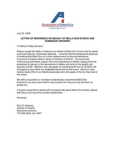 Letter Of Recommendation On My Behalf best photos of on behalf of letter sle sle letter