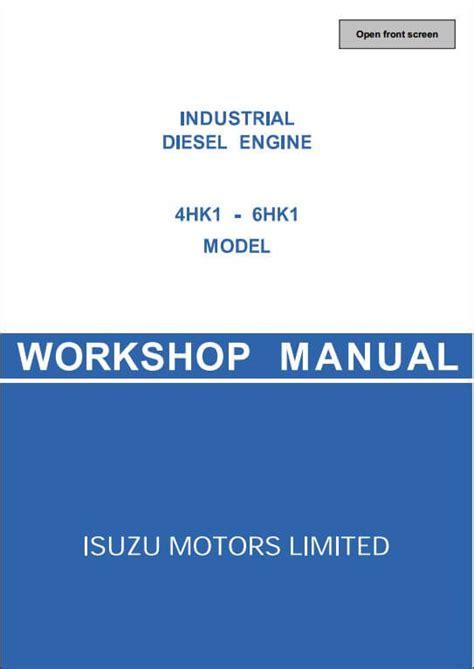how to download repair manuals 2007 isuzu i series parental controls isuzu engine 4hk1 6hk1 workshop service repair manual a repair manual store