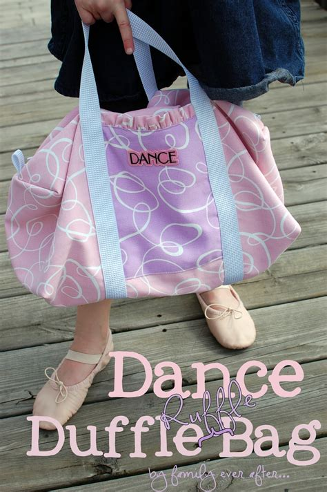 tutorial dance dance duffle ruffle bag tutorial