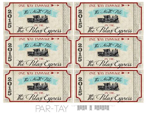 printable train ticket template polar express train tickets free printable party like a
