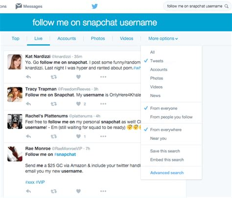 Search Peoples Tweets Snapchat For Business A Guide For Marketers Social Media Examiner