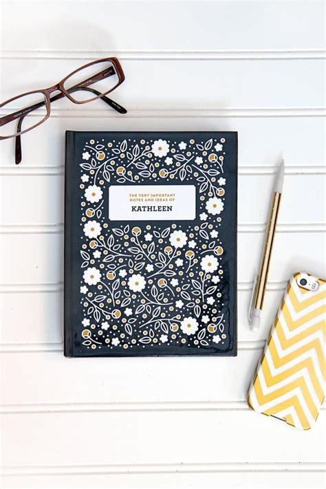 design house decor etsy personalized flora patterned journal by splendidsupplyco