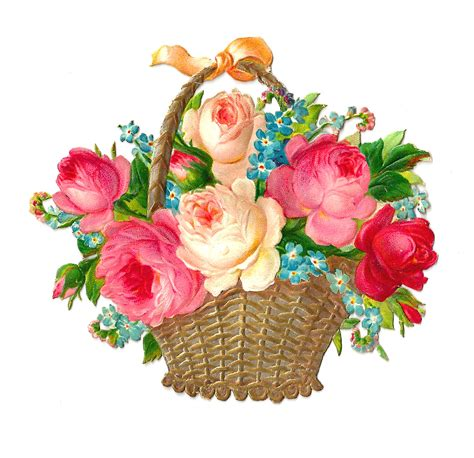free flower clipart antique images free flower clip vintage pink and