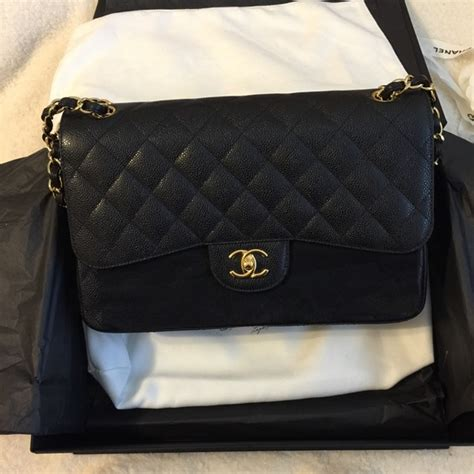 Ode To Kates Jumbo Chanel Flap by Chanel Sold Chanel Jumbo Caviar Classic Flap Bag Ghw