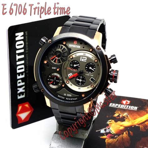 Expedition Time E6706 Black For Original jam tangan expedition e6706 time zone jam tangan