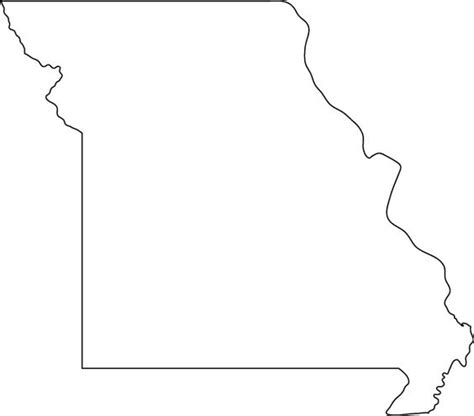 Missouri State Outline by Missouri Outline Map Coloring Pages Missouri Search And Maps