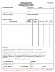nafta certificate template nafta certificate of origin