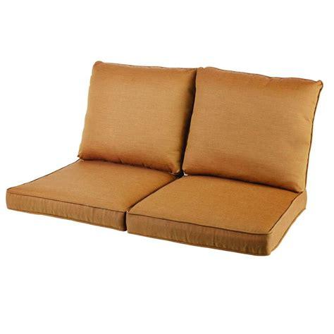 replacement loveseat cushions hton bay oak heights cashew replacement loveseat