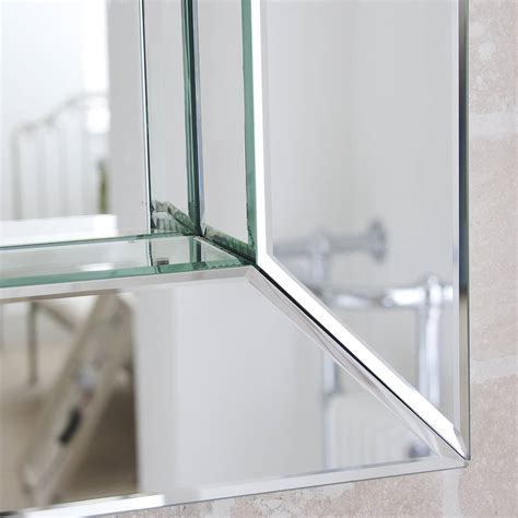 bathroom mirror glass deep all glass bathroom mirror by decorative mirrors