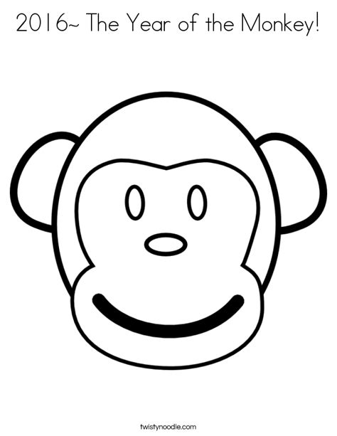new year of the monkey coloring sheets 2016 the year of the monkey coloring page twisty noodle