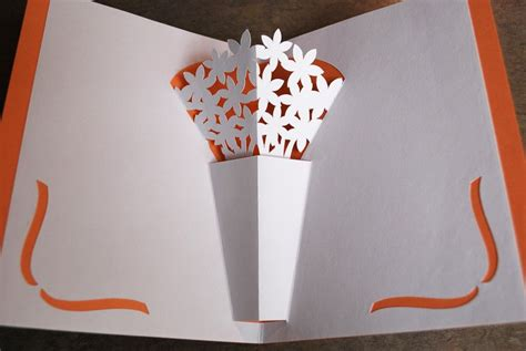 flower pop up card templates flower vase pop up card