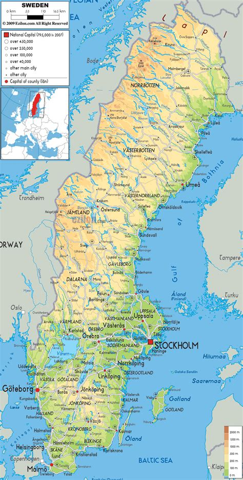 maps with towns maps of sweden detailed map of sweden in