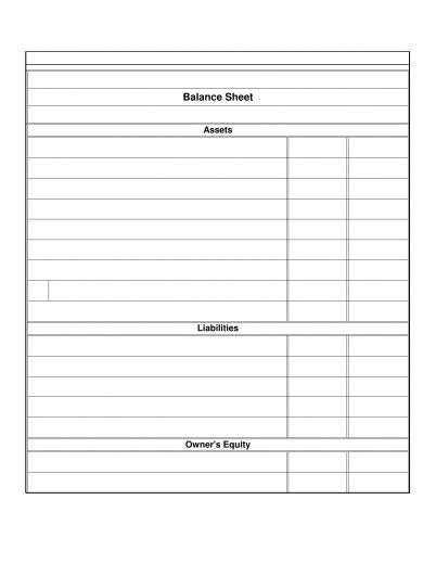 blank balance sheet template restaurant balance sheet template excel pdf