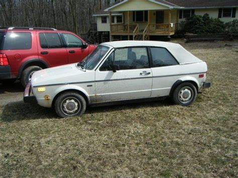 1982 Volkswagen Rabbit Convertible by Purchase Used 1982 White Vw Rabbit Convertible 5 Speed