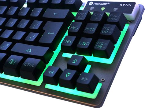 Rexus K9 Tkl Fortress Gaming Keyboard Anti Ghosting Tenkeyless rexus fortress k9 tkl gaming keyboard rexus