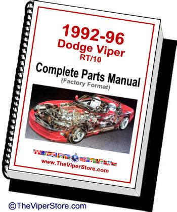 books about how cars work 1992 dodge viper parental controls dodge viper rt 10 conver 1992 1996 complete factory parts