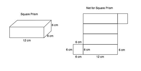 net pattern for square prism move my robot nets of 3d shapes part 2 prisms