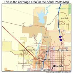 peoria arizona map aerial photography map of peoria az arizona