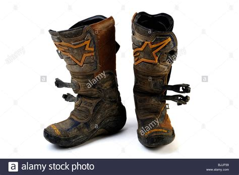 dirt bike boots well worn set of alpine motocross dirt bike boots