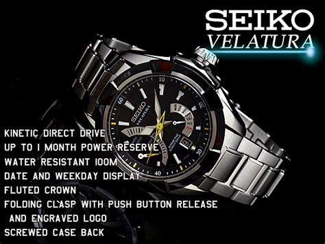 Seiko Velatura Black Silver Steel 3 seiko specialty store 3s rakuten global market seiko velatura kinetic direct drive mens