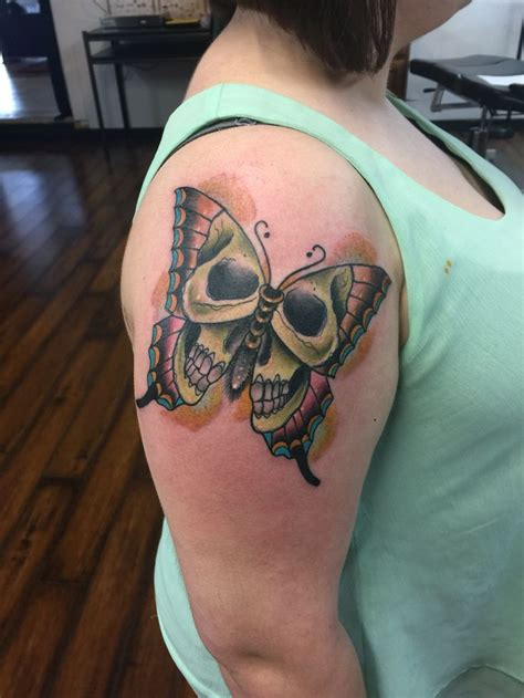 tattoo fixers glasgow skull butterfly tattoo color tattoos by jarvis
