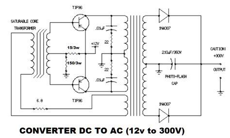 converter ac ke dc motor dc ac inverter schematic diagram belajar ilmu bersama