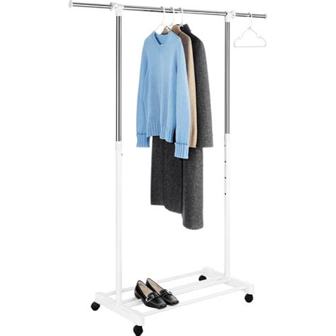 Walmart Clothes Rack by Whitmor Deluxe Adjustable Garment Rack Chrome White