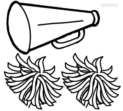 printable cheerleading stencils poms colouring pages printable cheerleading coloring