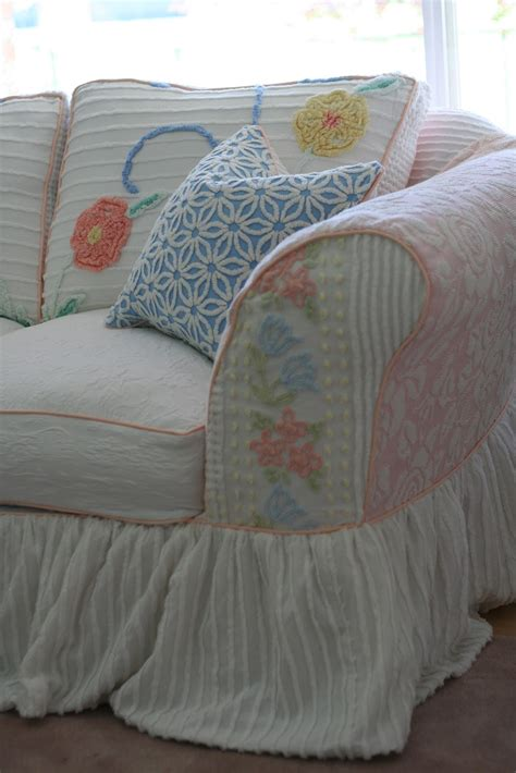 chenille slipcovers custom slipcovers by shelley vintage chenille bedspread