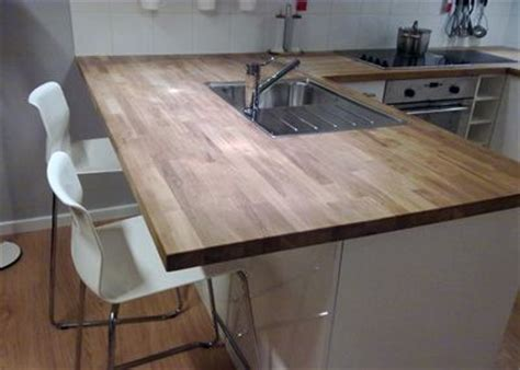Ikea Solid Oak Timber Countertop Benchtop Breakfast Bar For The Home Pinterest