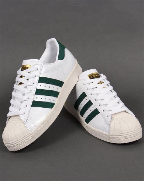 Adidas Supetstar White adidas superstar 80s trainers white green originals shell