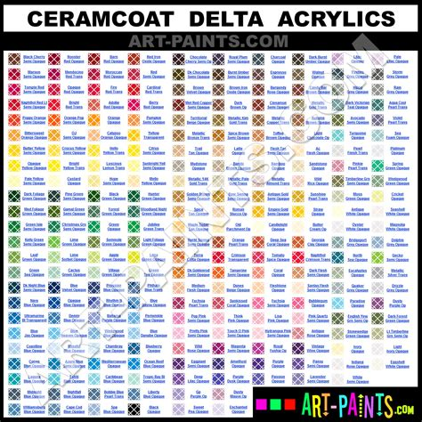 ceramcoat delta acrylic paint colors ceramcoat delta paint colors delta color delta acrylics