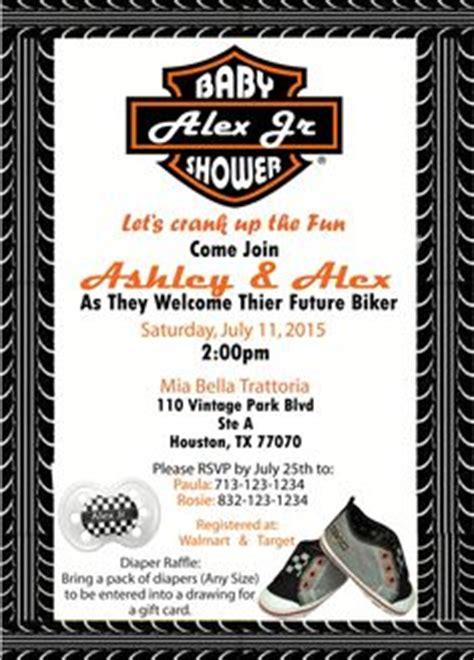 Harley Davidson Invitations by Harley Davidson Motorcycle Baby Shower Invitation