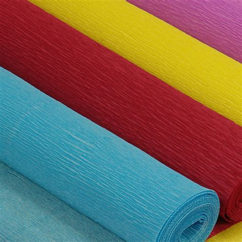 With Crepe Paper - premium colored crepe paper