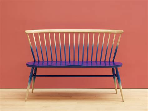 ercol bench ercol love seat orange and brown